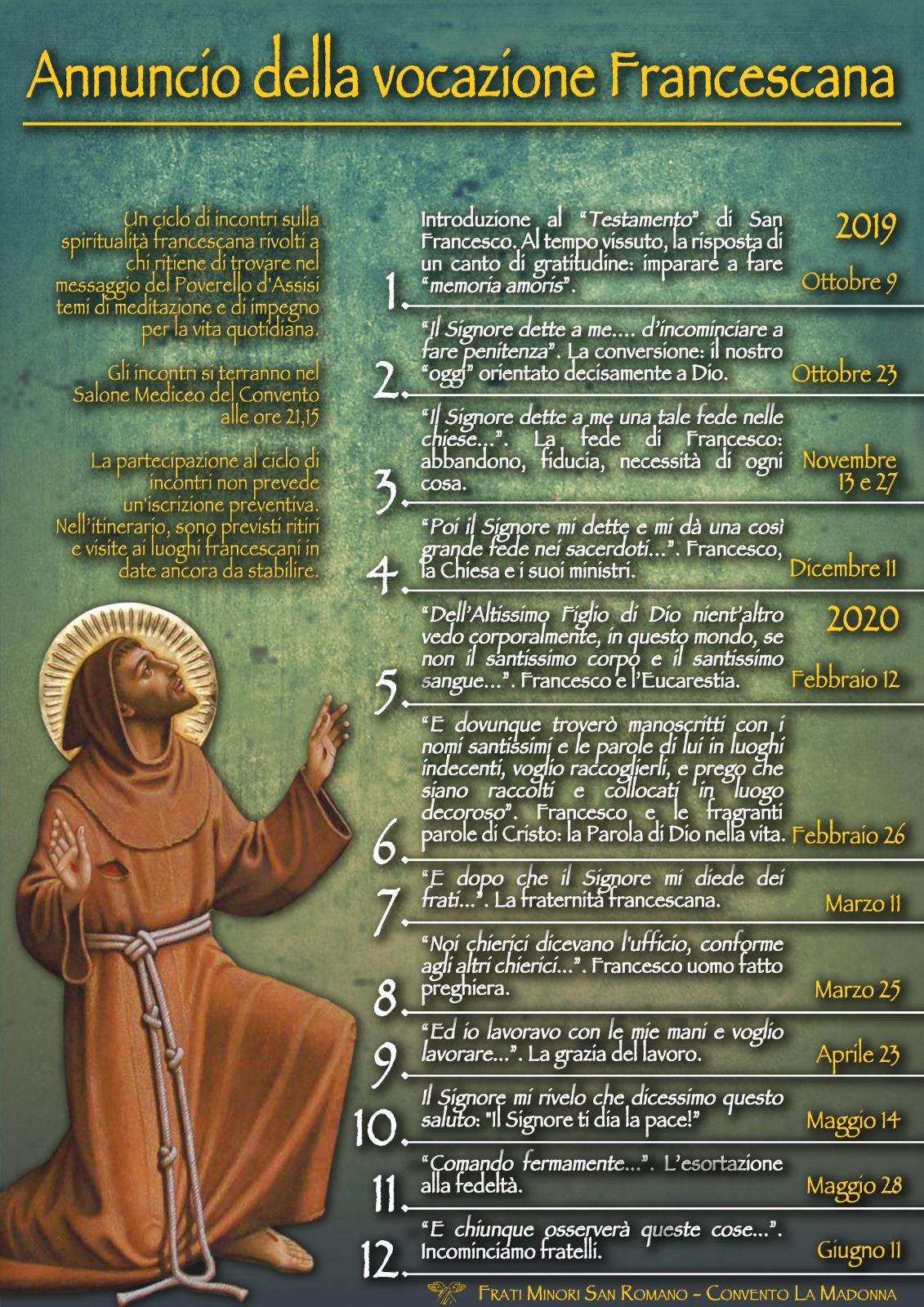 Annuncio della vocazione Francescana