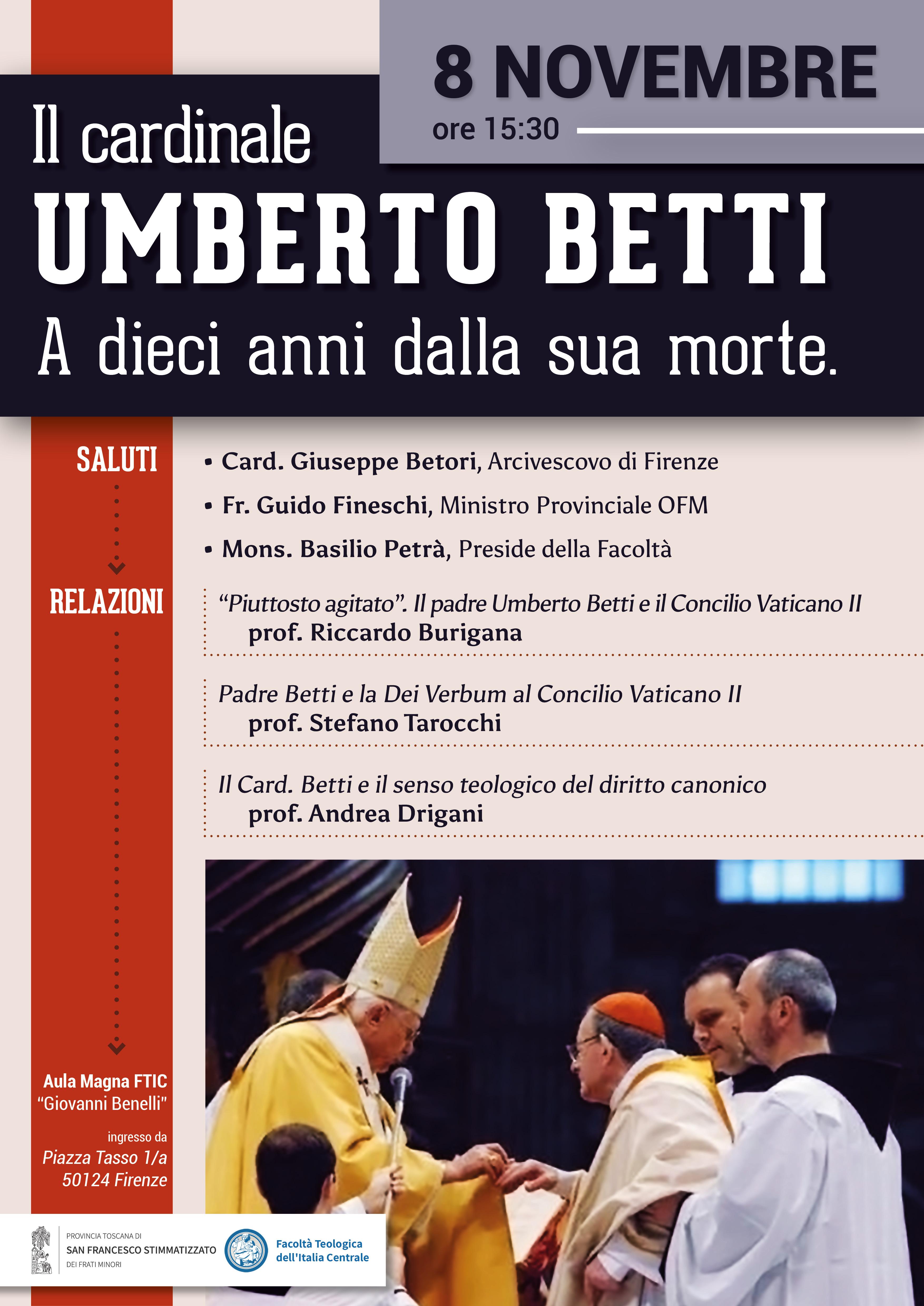 Il cardinale Umberto Betti a dieci anni dalla sua morte. 8 Novembre 2019