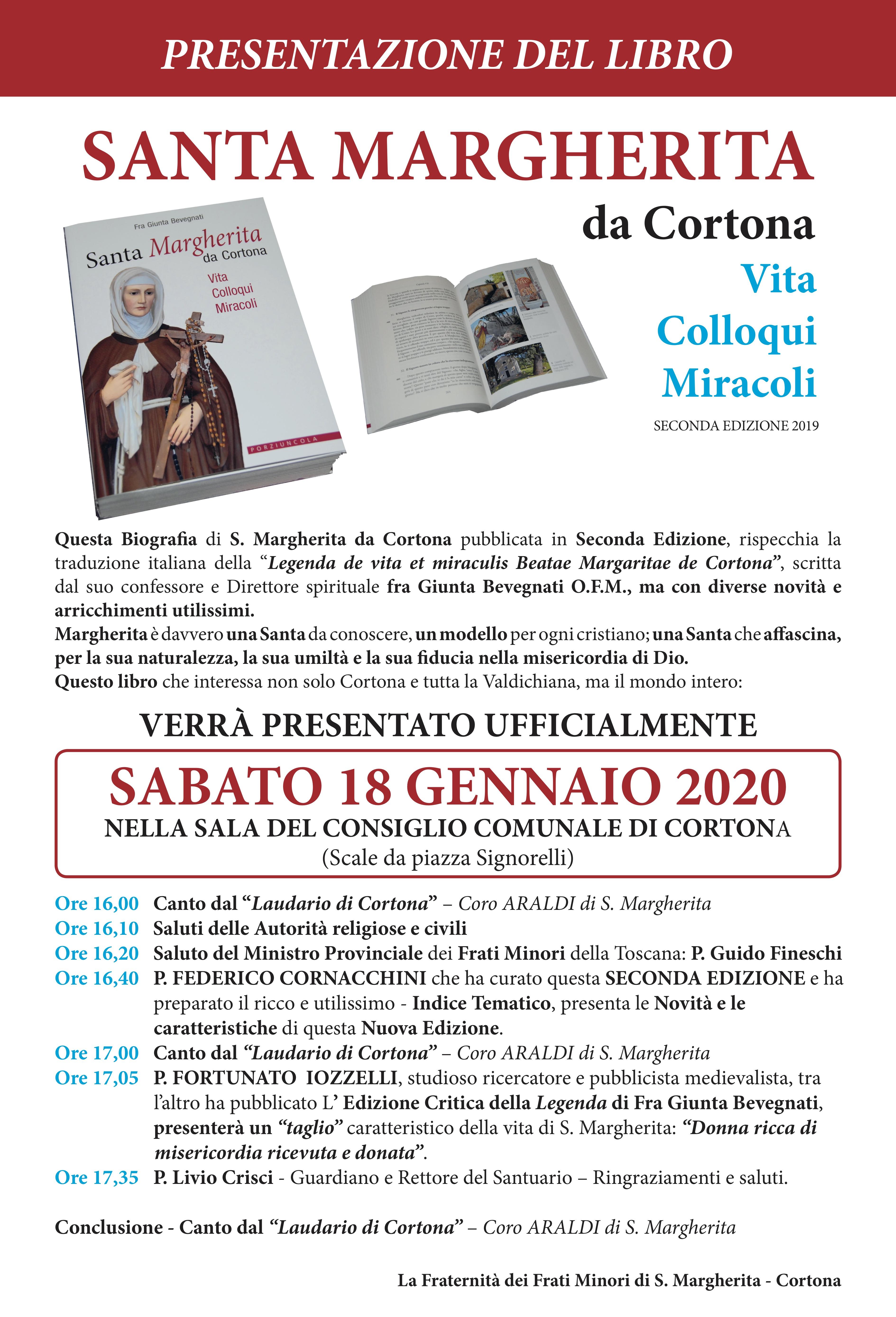 Santa Margherita da Cortona, Vita Colloqui Miracoli - Presentazione del libro